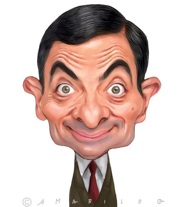 Mr Bean Caricatura