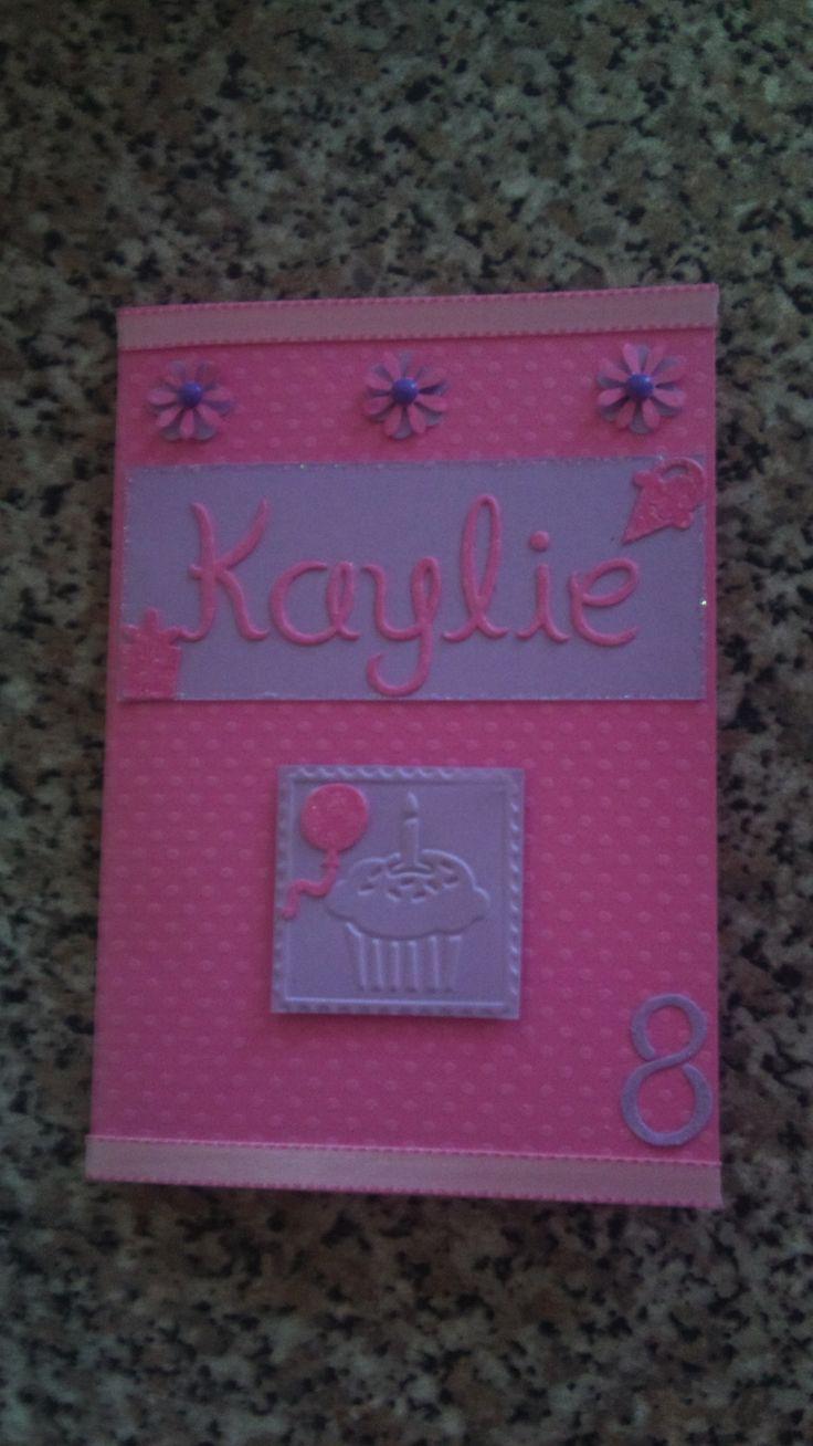 Girl's 8th Birthday Invitation