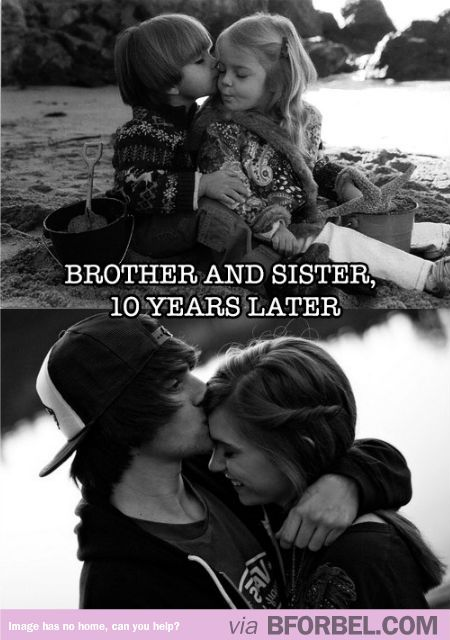 Brother and sister, 10 years later. So sweet!