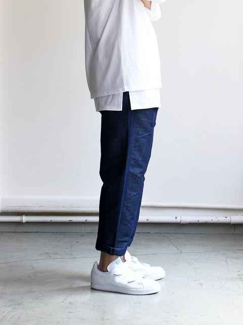 HURRAY HURRAY Indigo Tuck Trousers