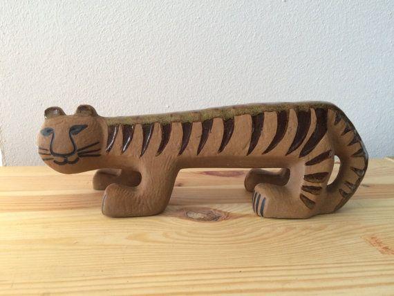 Grote tijger van Lisa Larson Gustavsberg Zweden door kunstmus