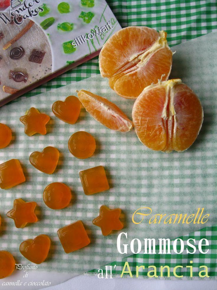 Profumo di cannella e cioccolato: Caramelle gommose all'arancia