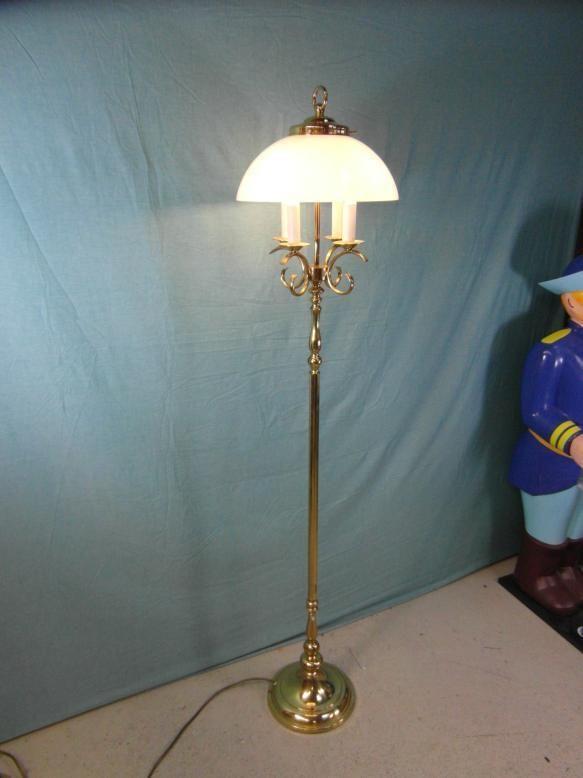 Stehlampe Kronleuchter Standleuchter Antik Stil Messing Jugendstil Lampe Rar Ob4 Stehlampe Lampen Stehlampe Messing
