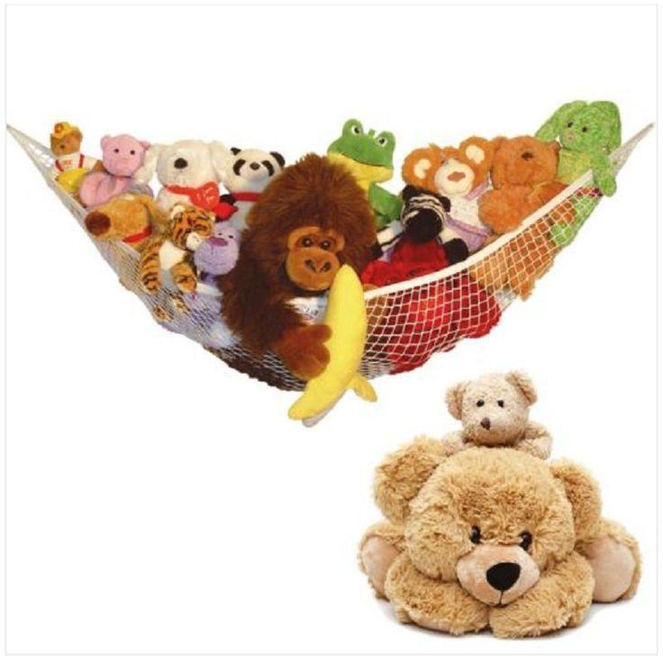 MESH NET LARGE TOY STORAGE NURSERY SOFT TEDDY HAMMOCK BABY CHILD BEDROOM TIDY in Home, Furniture & DIY, Storage Solutions, Other Storage Solutions | eBay!
