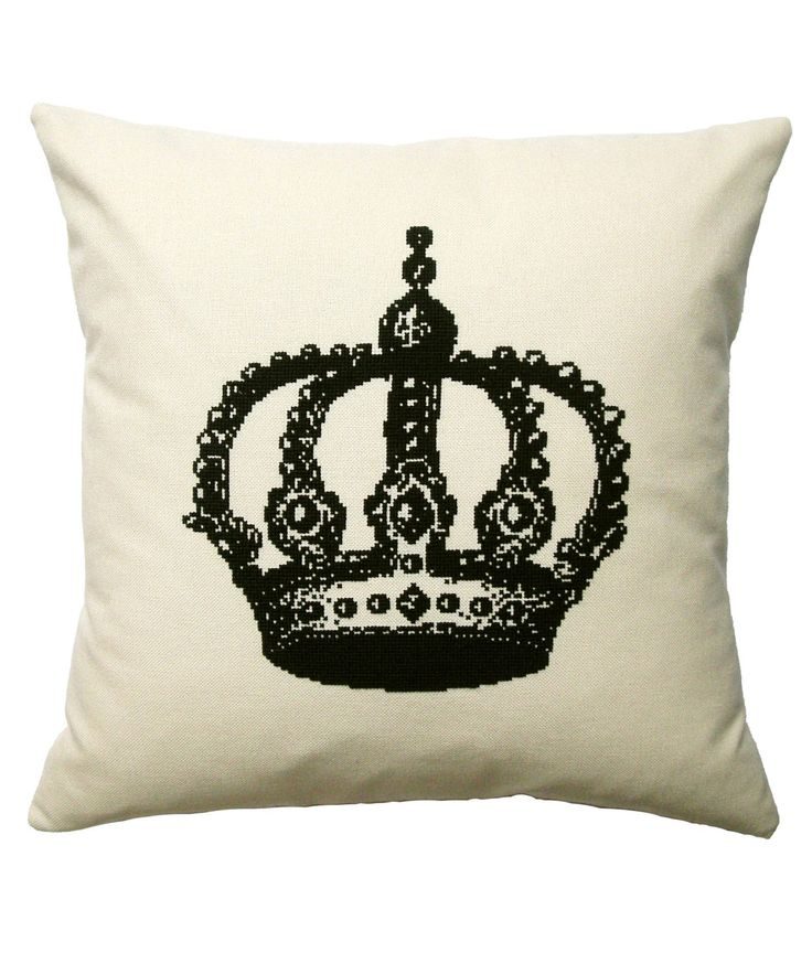 What Delilah Did The Crown Cross Stitch Cushion Kit | Cross Stitch Kits by What Delilah Did | Liberty.co.uk
