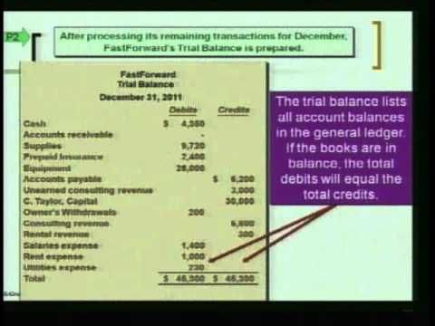 how to prepare journal ledger and trial balance
