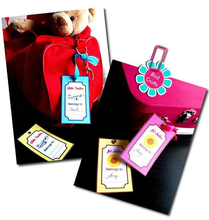 Children's Luggage Tags- Jet setter and Globe Trekker