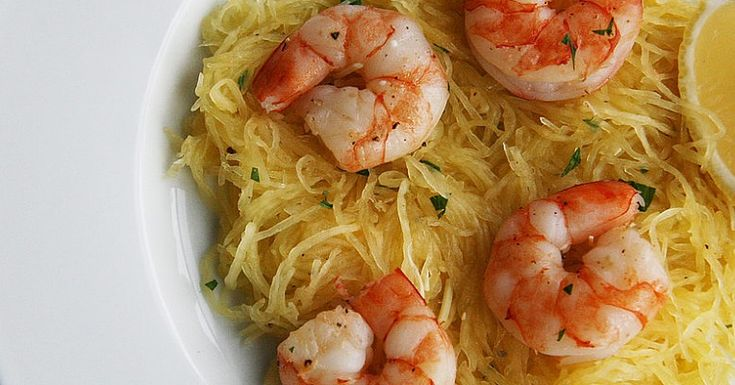 If you're wary of cooking with shellfish, then this dish is a perfect place to start. High in protein but low in calories, shrimp is a healthful option for a seafood-loving bunch. This play on the comforting flavors of traditional scampi takes the gluten