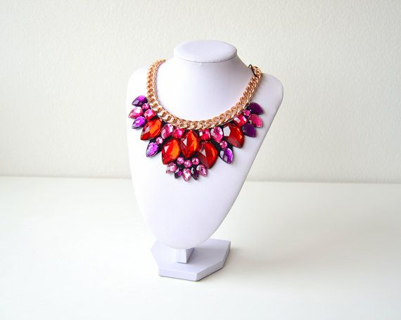Rose Gold Red Pink Purple Rhinestone Gem Crystal by GemsOver