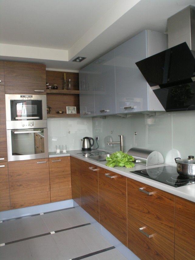 Kuchnia drewno + biały