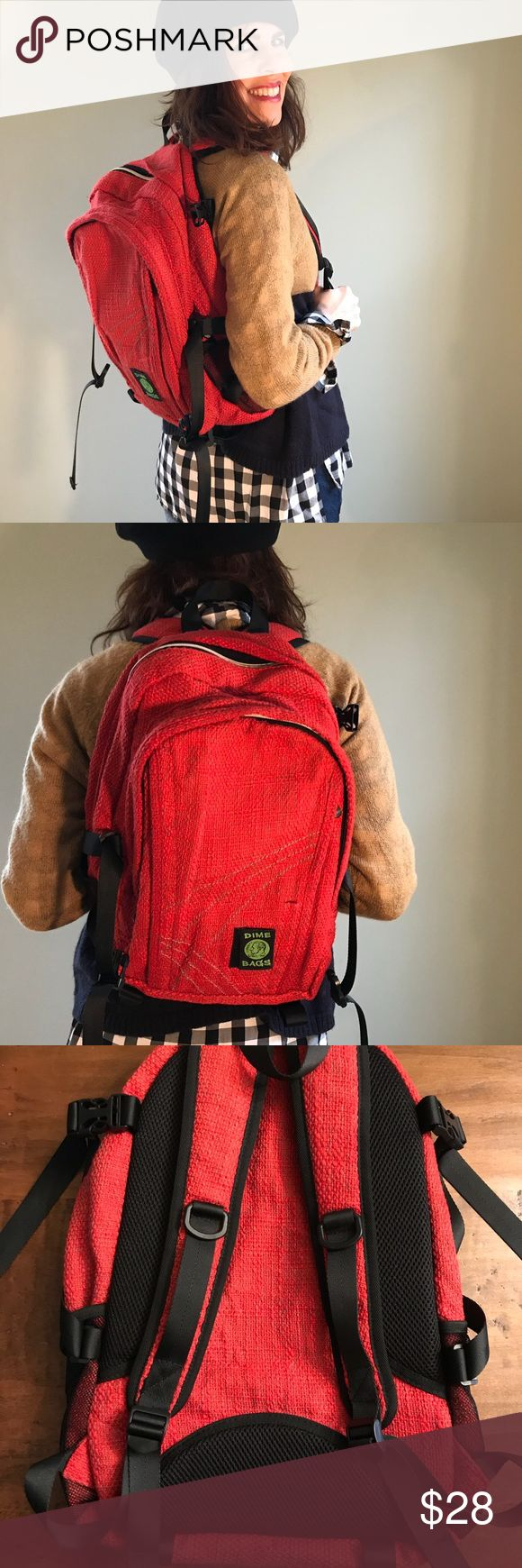 Dime Bag Backpack Hemp and cotton backpack, perfect for school or toting anything! This backpack looks like it's never been used. Dime Bag Bags Backpacks