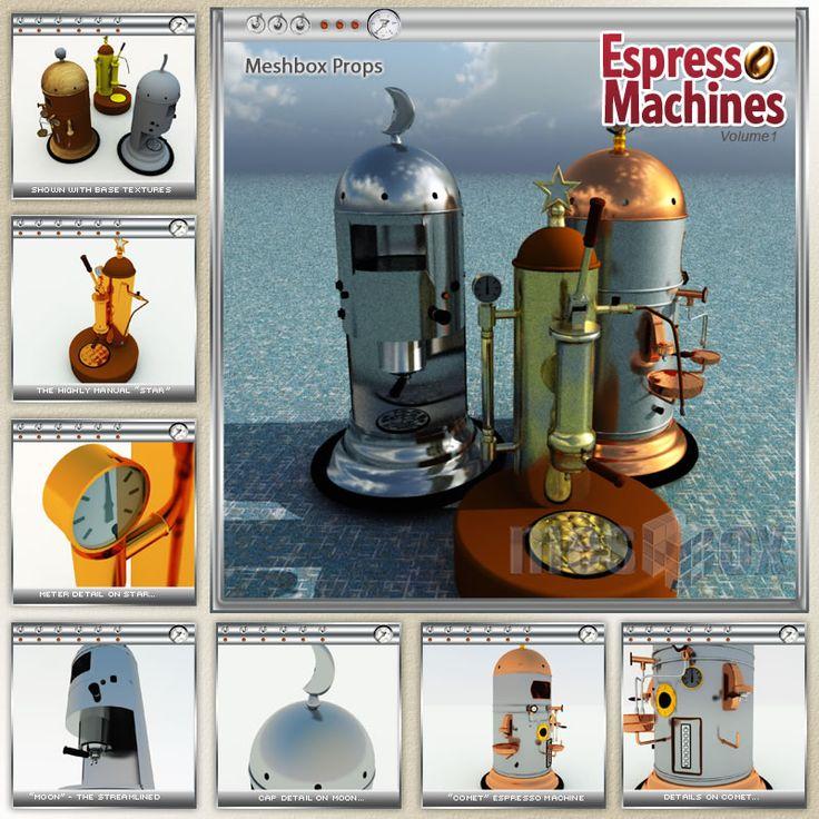 3D Espresso Machines Volume 1