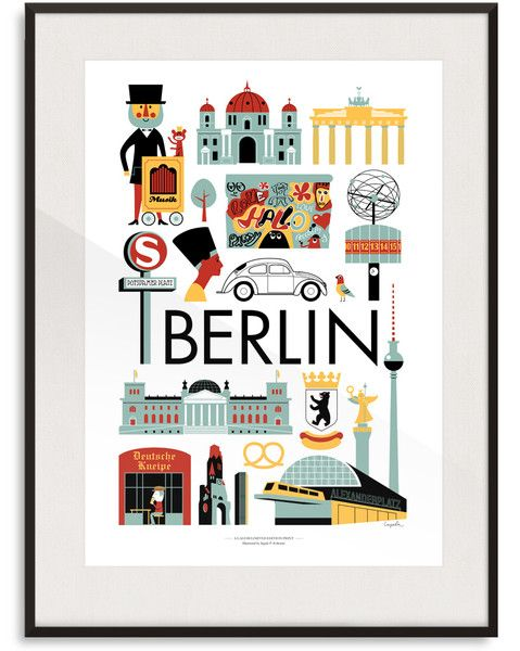 Berlin Print By Ingela P Arrhenius   Lagom Design