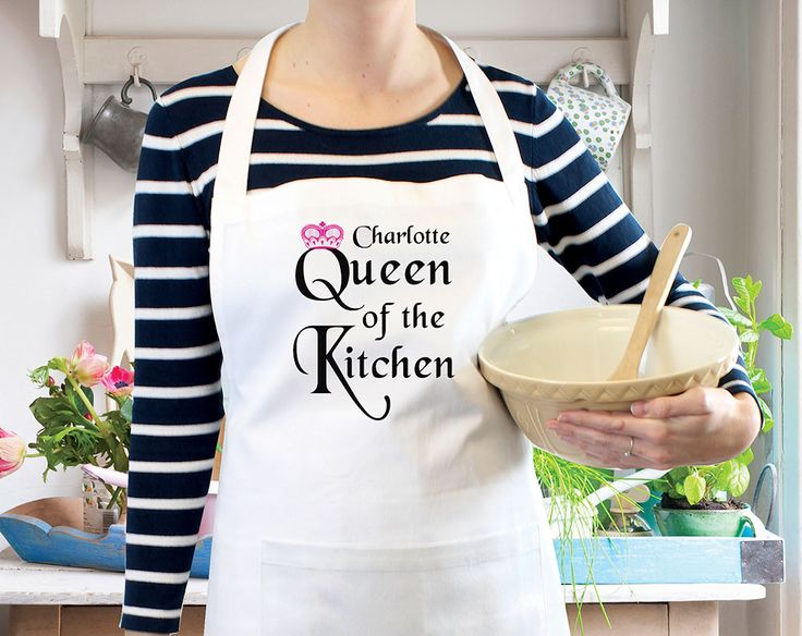 Queen of the Kitchen Apron  £20 Crown yourself monarch of all you serve with this personalised kitchen apron.  KLife Kleeneze