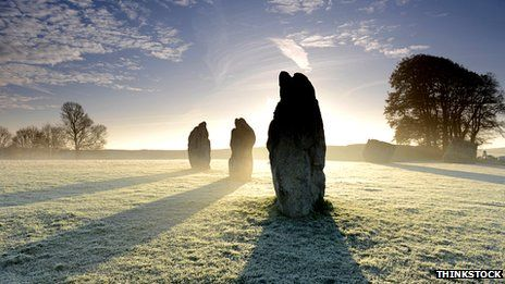 10 extraordinary sacred sites around Britain, article at the link.  This is Avebury Stone Circle, Wiltshire
