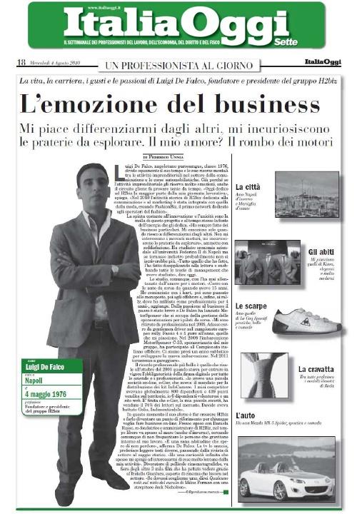 La mia intervista a Italia Oggi