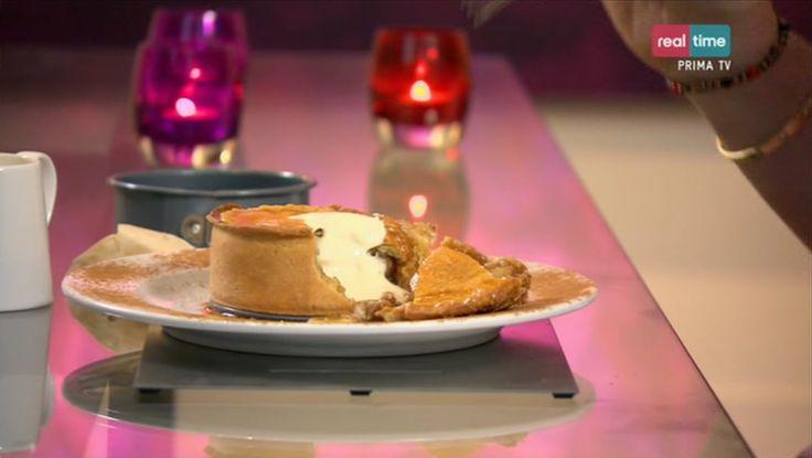 """La ricetta della apple pie (torta di mele), proposta dal pasticcere francese Eric nel programma di Real Time """"I dolci di Eric""""."""