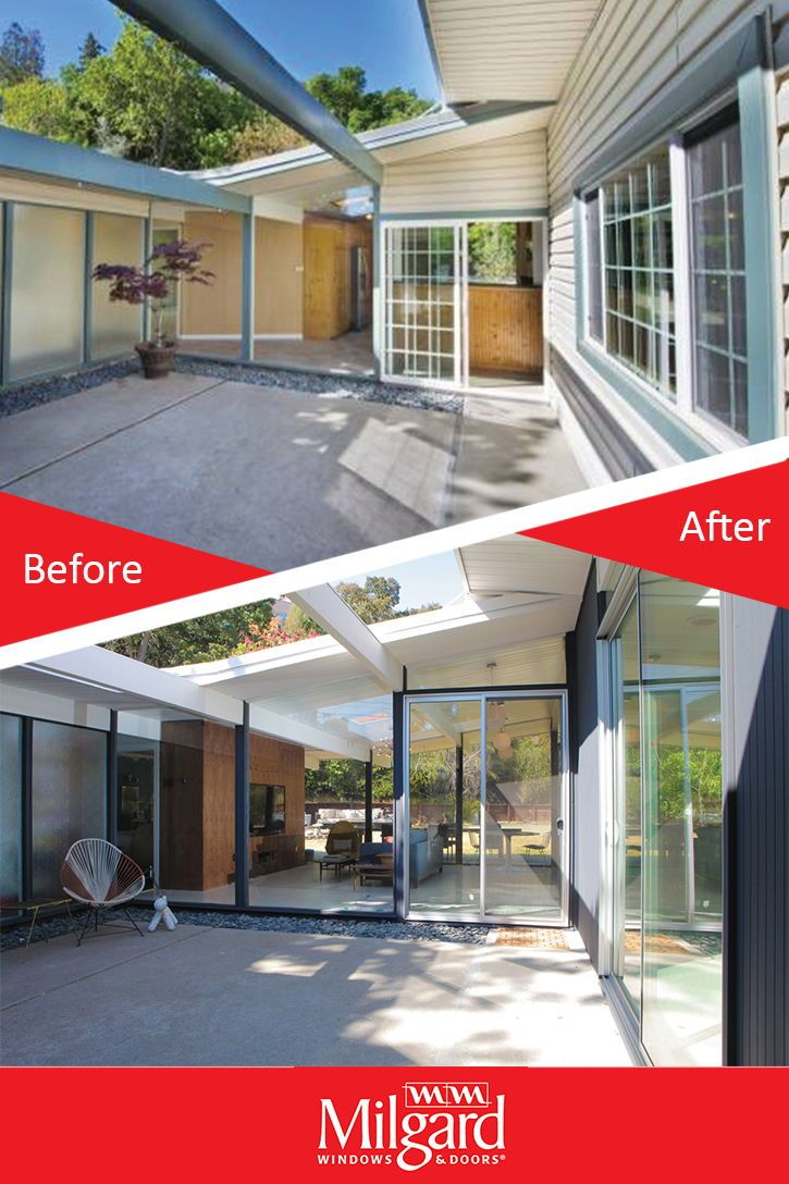 Aluminum Window And Door Replacement Project Gives A Better View With Narrower Sight Lines Aluminium Windows And Doors Simple Interior Design Aluminium Windows