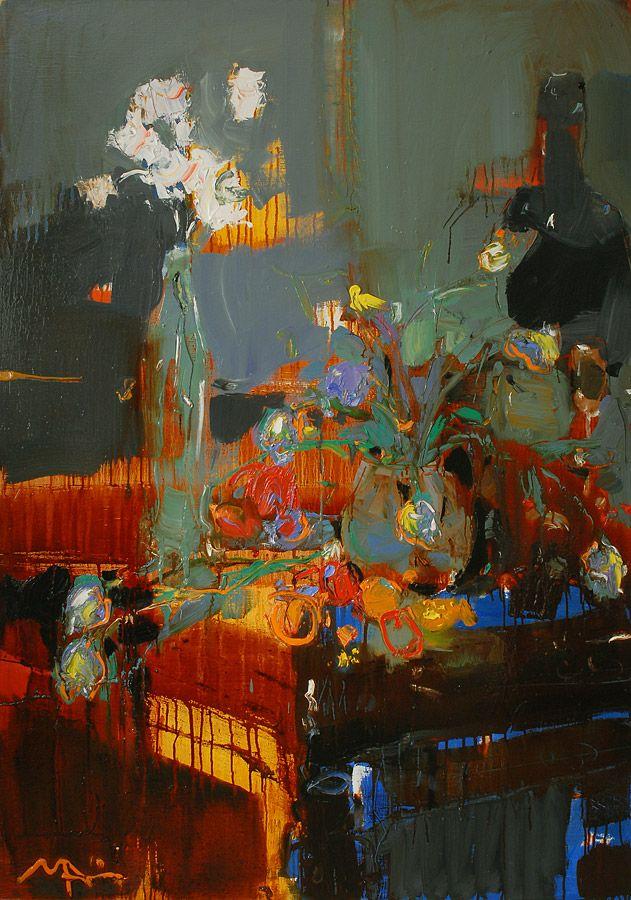 Alina Maksimenko (b.1974), Birthday (2010), oil on canvas, 90 x 140 cm. Via alinamaksimenko.com.