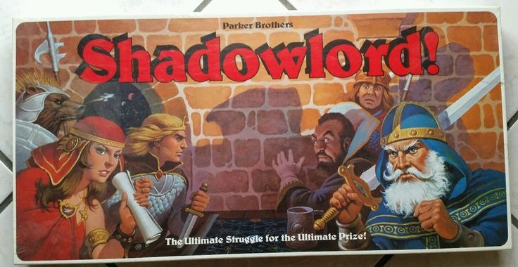 Vintage 1983 Factory Sealed Parker Brothers Bros Shadowlord D&D Style Board Game #ParkerBrothers