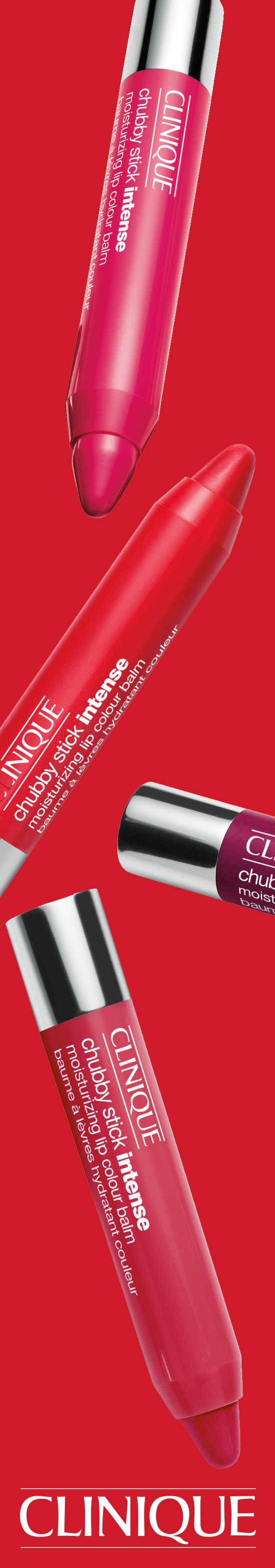 You'll be party-ready in no time with a few swipes of a Chubby Stick Intense Moisturizing Lip Color Balm.