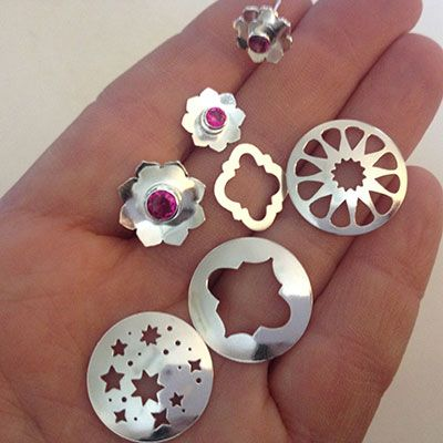 A sneak peek from Simone Walsh's upcoming new range of handmade jewellery. These are both finished and unfinished designs fresh out of the tumbler. #handmade #jewellery #silver