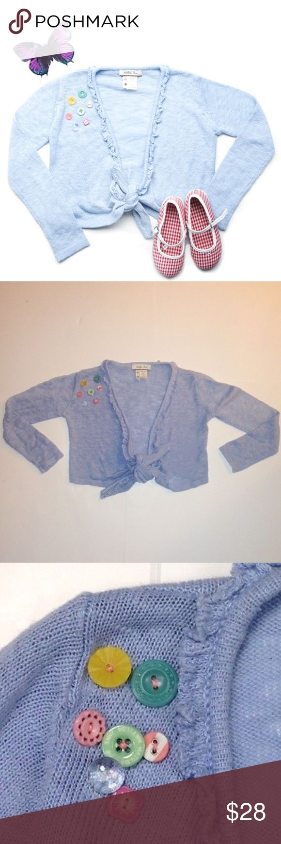 Matilda Jane Dandy Buttons Shrug Sweater Size 6 Happy to consider offers. Super Cute one-of-a-kind Matilda Jane Dandy Shrug Sweater from the It's A Wonderful Parade Collection. Excellent condition. Only worn one or two times times. Smoke-free as well as pet-free home. Size 6. Matilda Jane  Shirts & Tops Sweaters
