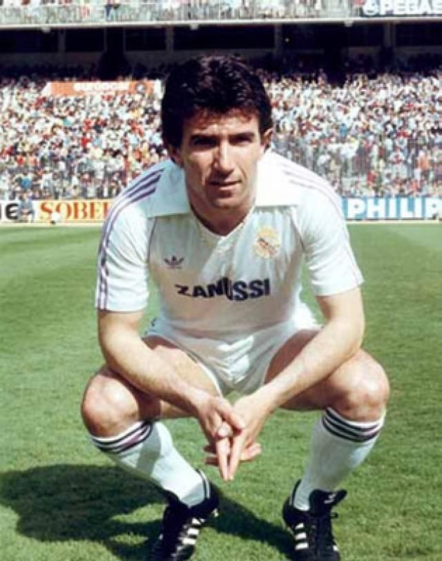 "Juan Gómez ""Juanito"" (Real Madrid) www.classicfootballshirts.co.uk"