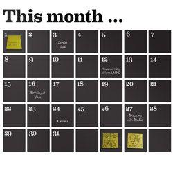 Muursticker kalender - Ferm Living