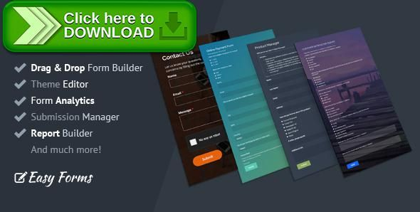 [ThemeForest]Free nulled download Easy Forms: Advanced Form Builder and Manager from http://zippyfile.download/f.php?id=42366 Tags: ecommerce, ajax form builder, contact forms, form analytics, form builder, form manager, form reports, form tracking, forms, html form builder, order forms, php form builder, registration forms, surveys