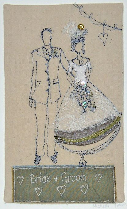 If you're looking for a unique wedding gift then look no further than Michelle Holmes. Michelle creates beautiful machine and hand embroidered artwork piec