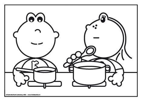Frokkie en Lola zijn aan het kokkerellen.