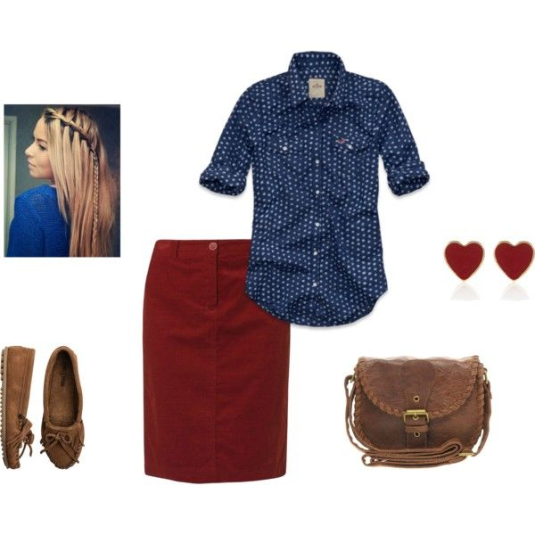 Old navy for the skirt and the shirt and handbag, and you can buy the shoes at payless or even walamrt