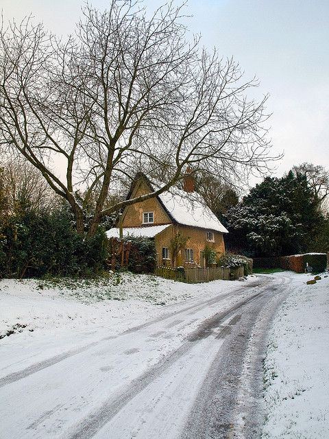 Winter Cottage in Blickling, England