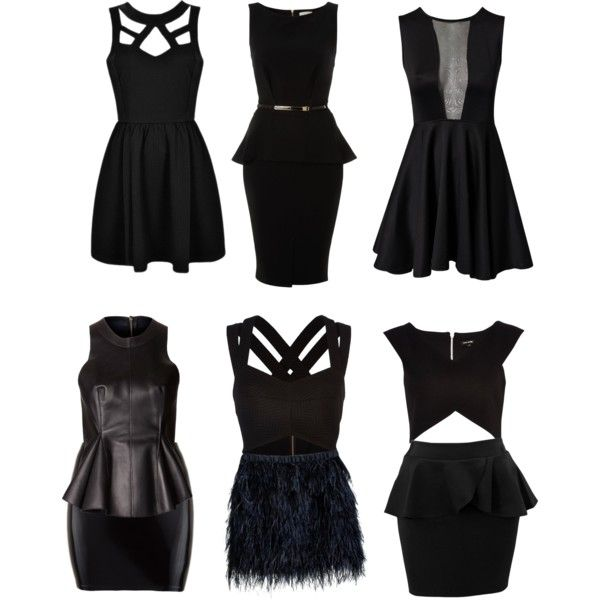 Little black dress for inverted triangle body shape