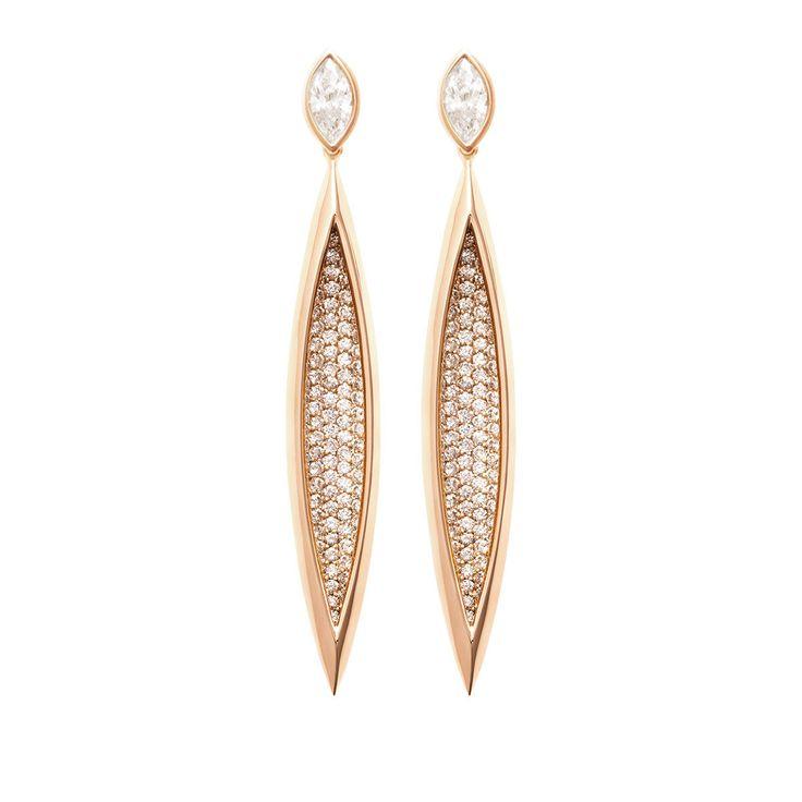 #MelissaKayeJewelry Lorraine #earring in #18k pink #gold with #diamonds #jewelry…