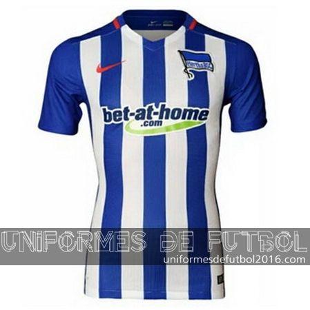 Venta de Jersey local para uniforme del Tailandia Hertha Berlin 2016 | uniformes de futbol economicos