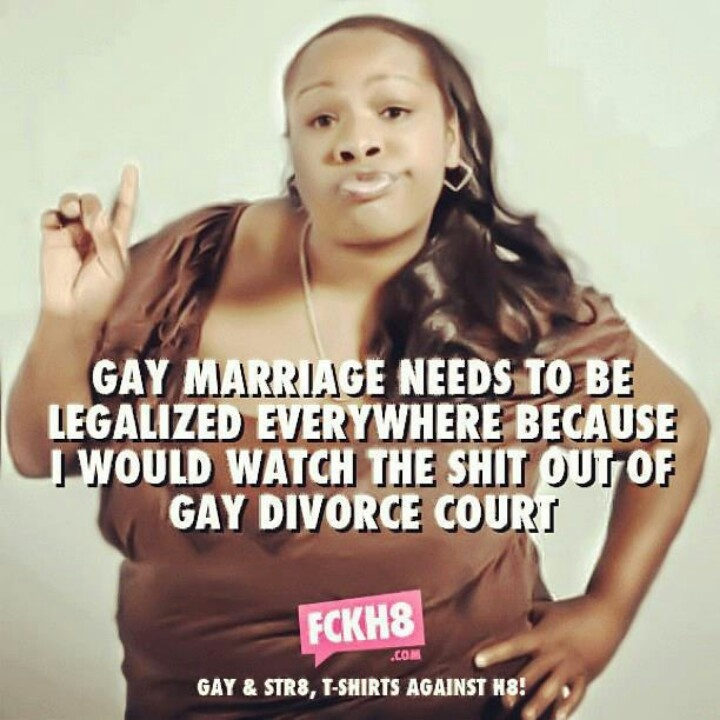 Gay marriage divorce court.