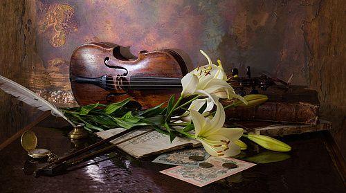 35PHOTO - Андрей Морозов - Натюрморт со скрипкой и лилией