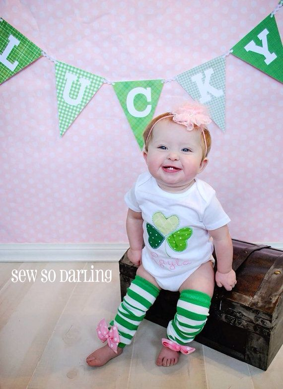 Baby Girl St Patricks Day Shirt St Patricks Day Outfit St
