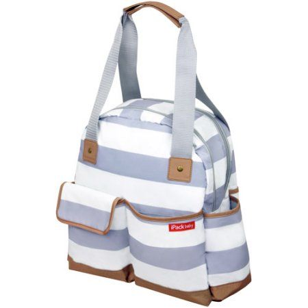 Keep all of your baby's necessities together by using the iPack Bowling Baby Diaper Bag. If you can't find a place to change your child while out and about, the iPack diaper bag includes a safety-sealed changing pad for a clean area to take care of a diaper. Available at Walmart.com.