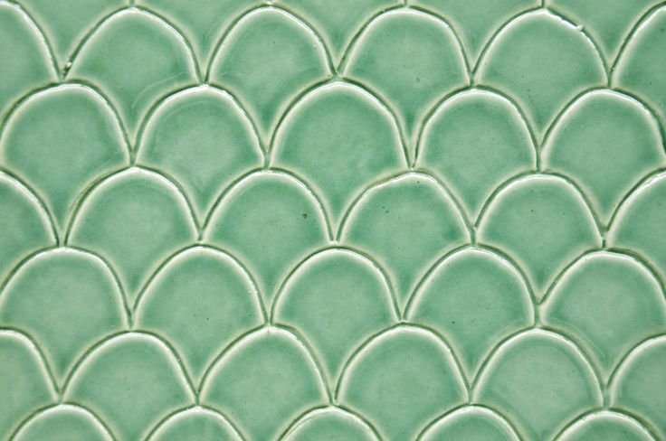 Green fish scale tile.