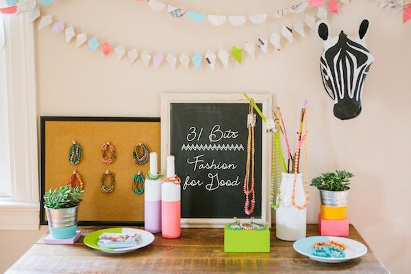 Throw a @31 Bits house party! We'll send you all the materials you'd need to share our story and host a party! Our team came together and styled a mock-house party, with plenty of #DIY projects! http://ow.ly/nGtD3