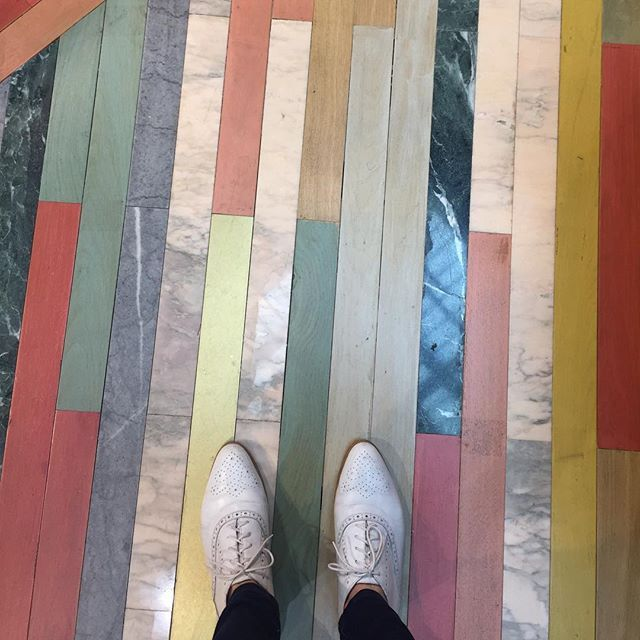 A m a z I n g floors on the ground floor of @libertylondon. Way too pretty to walk on. Would love to put these in a house one day! - Thanks @beaandcostyle
