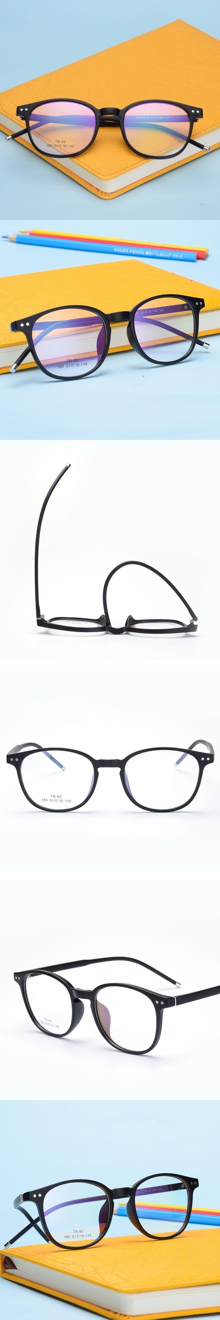 The New TR90 women Glasses frame retro optical clear Full box Eyeglasses frame Men prescription glasses frames 160
