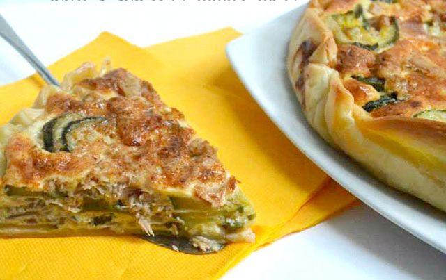 Quiche l g re aux courgettes et au thon ww cuisine quiche gratin et dessert recipes - Cuisine legere au quotidien ...