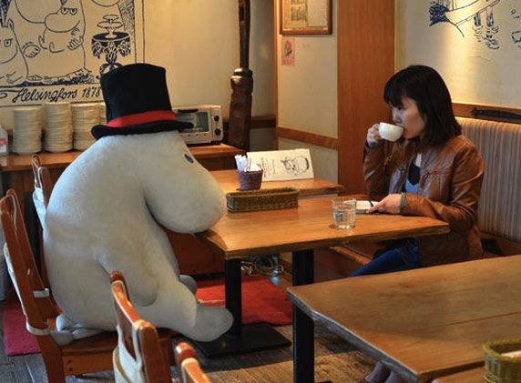 Moomin themed café chain in Japan provides an extra guest at your table...