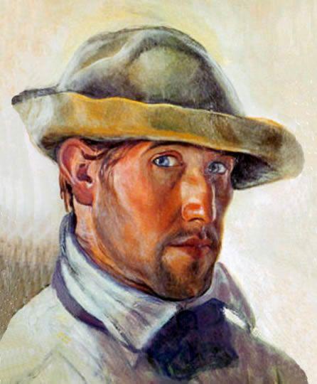 Autorretrato expresionista por Spilimbergo.