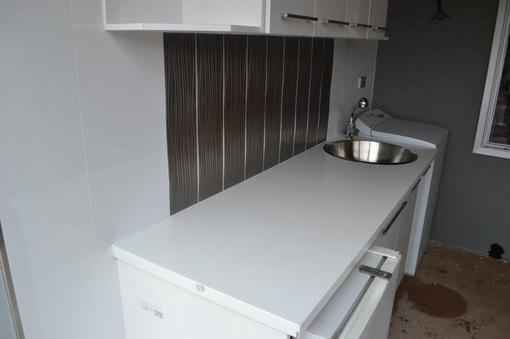 Laundry Idea - Laundry Tops - Laundry Cupboards - Laundry Ideas - Laundry Sink - Laundries - Laundry Renovation - On the ball bathroom completed project   Laundry Perth