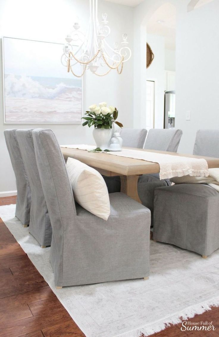 40 Gorgeous Cover Design Ideas For Dining Chairs Slipcovers For Chairs Dining Room Chair Covers Dining Chair Slipcovers